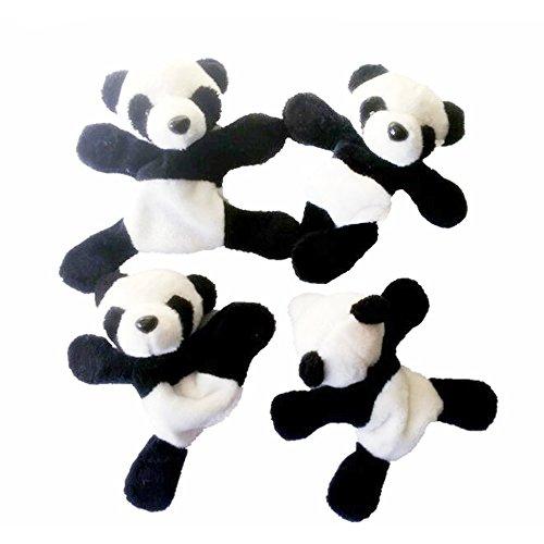 Carino morbido peluche Panda Calamita da frigo Adesivo Frigorifero Decorazioni per souvenir Animale 3D Lavagna a secco magneti O Qualsiasi superficie metallica, Per bambini e cucina (Set da 4 pezzi)