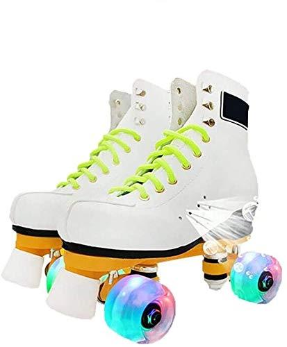 Wxnnx Patines cuádruples para niños, ajustables y acolchados, patines ajustables de doble fila, varios tamaños, 32