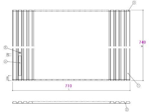 お風呂のふた TOTO 風呂ふた シャッター式 巻きふた 外寸:710×740mm EKK729W2 (JH0816) トト
