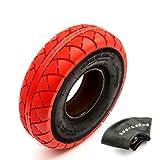 Neumático de 10 pulgadas y tubo interior 4.10/3.50-4 Mini BMX Bike Red Tread 4' llanta
