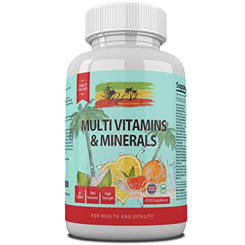 Multivitamins & Minerals Tablets for Adults - Includes Vitamin C, D, B, Iron & Zinc - High Strength & Vegetarian Friendly - Suitable for Men & Women - 2 Months Supply - Made in The UK & GMP Certified