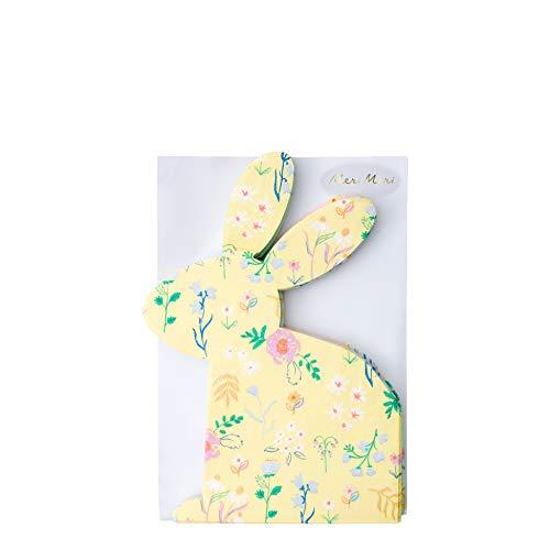 Luck and Luck Meri Meri - Servilletas de Papel (20 Unidades), diseño de Conejo de Flores Silvestres