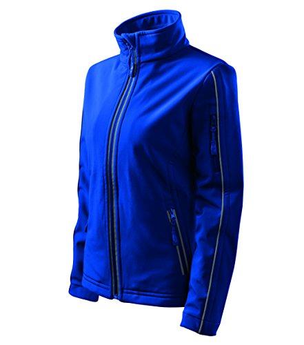 OwnDesigner by Adler Basic Damen Softshell Jacke - Winddichte Funktions-Jacke Wasserabweisend Atmungsaktiv Tailliert (510-Blau-XXL)