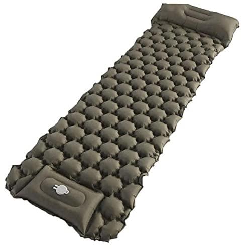 Ruluti 1pc Ultraligero Inflable Dormir Cojín Que Acampa Impermeable Colchón Doble Durmiente del Cojín Inflable Portátil Plegable Cama Individual Mochila Aire Libre Senderismo