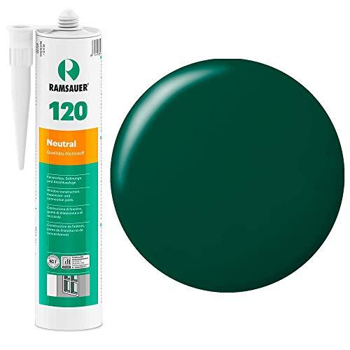 Ramsauer 120 Neutral 1K Silikon Dichtstoff 310ml Kartusche (Moosgrün)