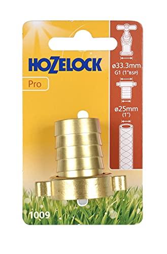 Hozelock Tricoflex 10090000latón Grifo 1IG de 25mm de diámetro leich gängiger Anillo de Rosca, Oro, 12x 7x 3,8cm