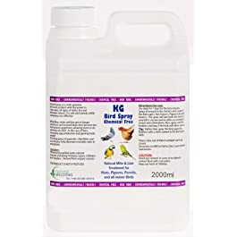 KG Bird Spray 2000ml Will assist in Removal of Mites & Lice from Hens, Pigeons, Parrots & all indoor Birds
