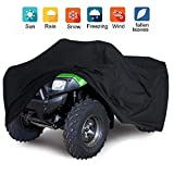 VVHOOY 210D ATV Cover Waterproof Heavy Duty 4 Wheeler Quad Cover All Weather Protection Compatible with Honda Rancher/Polaris/Yamaha/Suzuki/Can am (86x38x42in,XXL)