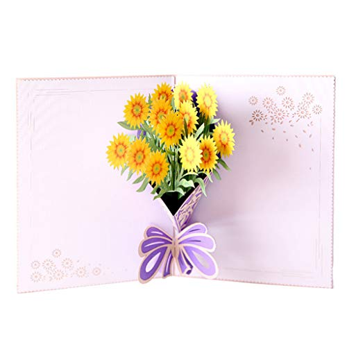 3d Popup Greeting Cards, Romantic Mother's Day Greeting Card, Carousel Happy Birthday Mother's Day Thank Gift, Mother's Day 3d Stereo Handmade Card, for Your Lover, Your Wife, or Your Mom (B)