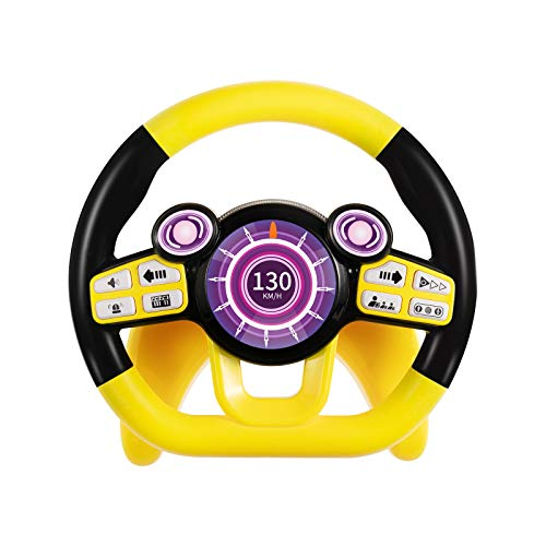 Temi Baby Toys,Steering Wheel Car Seat Toys with Light and Music, Pretend Driving,Learning Educational Toys for 1 2 3 Year Old Boys and Girls