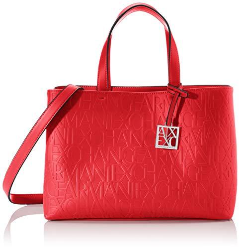 Armani Exchange Damen Liz - Medium Open Shopping Tote Rot (Rosso - Red)