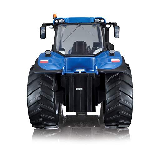 RC Traktor kaufen Traktor Bild 1: Maisto Tech R/C New Holland Traktor T8.320: Ferngesteuerter Traktor mit Licht, Maßstab 1:16, mit Stick-Controller, ab 8 Jahren, 35 cm, blau (582026)*