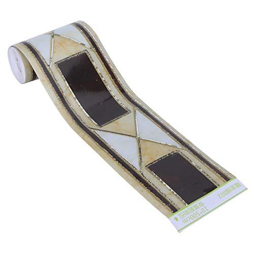 HERCHR Pelar y Pegar Papel Tapiz Borde Recortado Autoadhesivo Etiqueta de la Pared calcomanía para Sala de Estar Cocina baño 10 x 500 cm