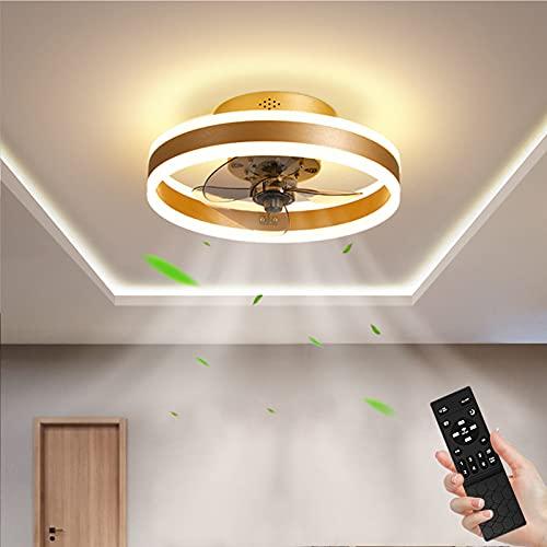Ventilador de Techo con Iluminación 48W Regulable Lámpara de Techo con Control Remoto 3 Temperaturas de color y 6 Velocidades, Lámpara de Ventilador, Luz de Techo para Dormitorio Restaurante Ø