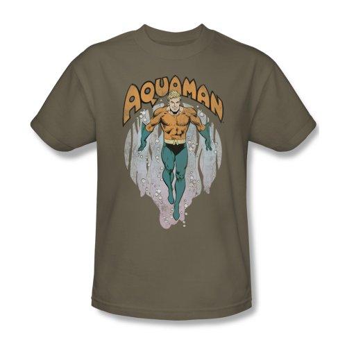 DC Comics Camiseta de manga corta Aquaman para hombre - verde - Medium