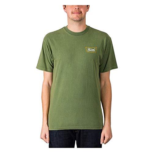BRIXTON Stith S/S Stnd Tee-Shirt Homme, Vert, XL