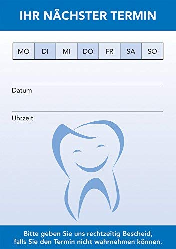 PRICARO Terminblock für Zahnärzte (20er Pack)