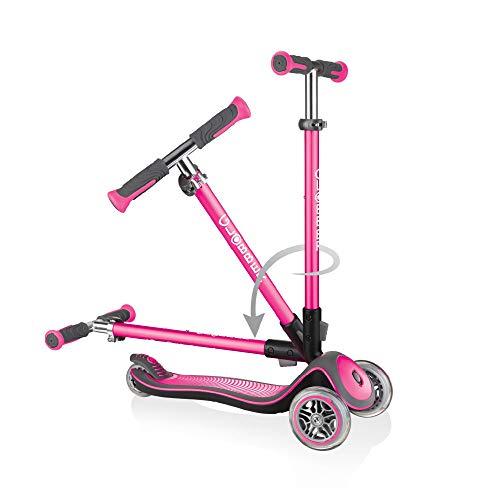 Sk8teforyou Bicicleta Infantil Unisex para niños Globber Elite Lights Deluxe, Rosa, 1 Talla