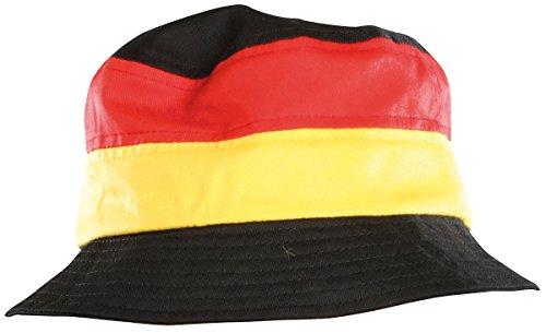 PEARL Deutschland Hut: Fan-Schlapphut Deutschland (Sonnenhut)