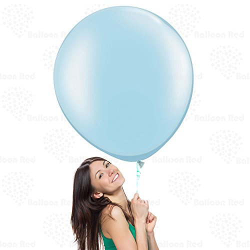 Baby Blue 36 Inch Giant Latex Balloons 12 Pack Large Thickened Extra Strong Jumbo Big for Baby Shower Garland Wedding Photo Booth Birthday Party Supplies Arch Decoration Engagement Anniversary Christmas Festival