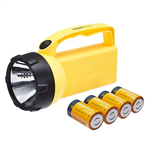 Amazon Basics - Linterna de plástico, 6 V