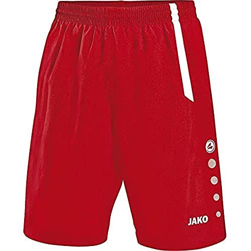JAKO Turin Shorts de randonnée, Rouge Sport/Blanc, M Homme