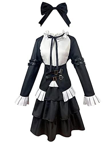 Anime Fairy Tail Erza Scarlet Cosplay Disfraz Halloween Navidad fiesta traje de caballero de criada traje para mujer conjunto completo black_XXL