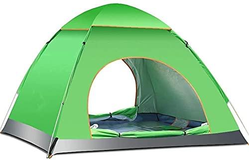 Tiendas De Campaña Refrescos Automatic Pop Up Family Camping Tienda para 3-4 Personas  Tiendas De Cúpula Impermeable con Cubierta De Tragaluz, Configuración Rápida (Color : Verde)