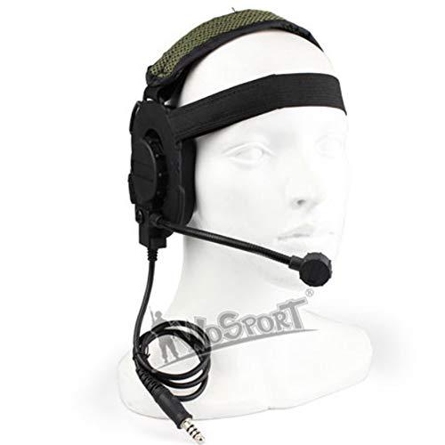 Huenco Le Microphone Tactique Militaire Elite Headset III Peut être retiré, utilisé avec PTT pour la Communication CS Talkie-walkie