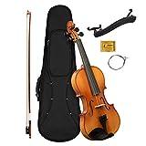 CASCHA 4/4 Violine mit Hardcase I Geigen Set für Jugendliche und Erwachsene I Hochwertige Geige mit...