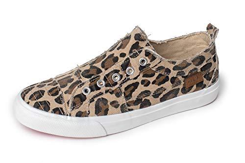 Corkys Womens Babalu Casual Slip On Sneaker (Leopard, 7)