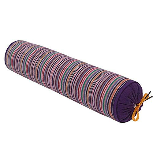 Almohada Casco Trigo Sarraceno Redondo Con Funda Algodón Extraíble Para Dormir Reparar Almohada Para Adultos La Columna Cervical Almohadas Ortopédicas Para Dormir,Purple