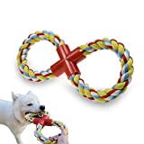 LECHONG Dog Rope Toy Dog Chew Toys, 8-Shaped Durable Dog Training Toys for Large Dogs, Upgrade Indestructible Tug of War Dog Toys for Teething Chewing and Playing