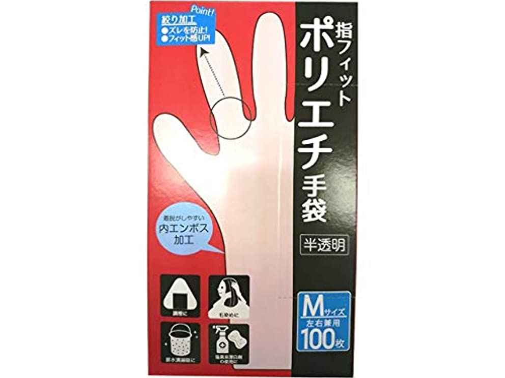 人類移植大理石CS ポリエチ手袋 M 100P