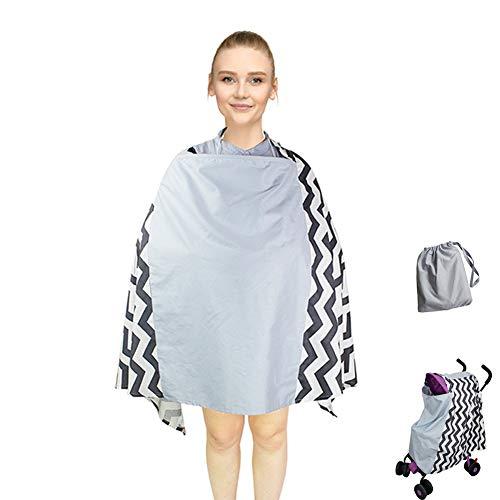 XIAOTING Einstellbare Baby-Pflege Cover & Nursing Poncho, 360 ° Voll Datenschutz Stillen Schutz, Multi-Use-Abdeckung for Baby-Autositz Dach, Babyparty-Geschenke for Boy & Girl