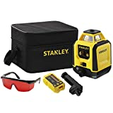 STANLEY Rotary Laser Level STHT77616-0 - Red Beam - Range 240 m (diameter) - Accuracy +/- 6 mm @ 30 m - IP54 - Supplied with Batteries, Rigid Pouch, Goggles, Target and Detection Cell