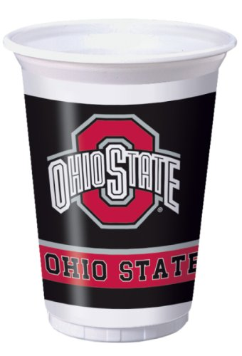 Creative Converting Ohio State Buckeyes 20 oz. Plastic Cups, 8-Count