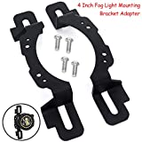 AUDEXEN 4 Inch Led Fog Light Mounting Bracket Adapter Compatible with Jeep Wrangler 2013-2018 Hard Rock, Rubicon X and 10th Anniversary Editions, 75th Anniversary Edition
