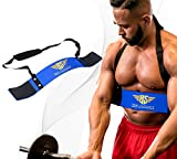 Heavy Duty Arm Blaster Body Building Bomber Bíceps Curl Triceps Muscle Fitness (azul)
