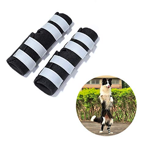 PUPWE Dog Rear Leg Braces,Dog Knee Brace with Safety Reflective Straps for Injury and Sprain...