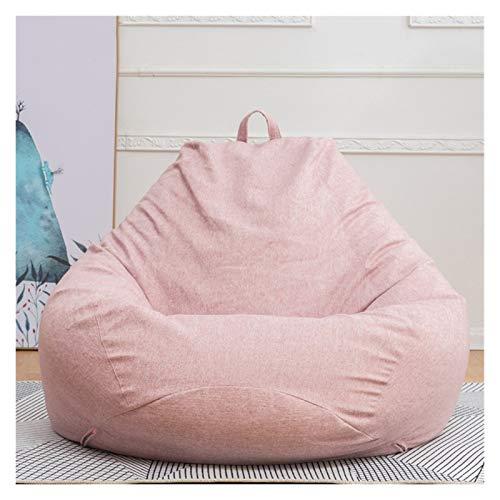 ZIJ Lazy Sofá grande y pequeño perezoso fundas de sofá, reclinable, silla, asiento, puf, cojín, sofá mullido, sillas de salón Tatami sin fille (color rosa L)
