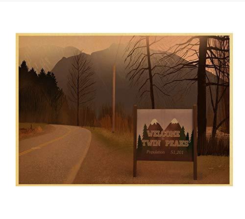 Affiche vintage Twin Peaks film maison chambre Bar peinture décorative affiche papier kraft rétro affiche 42 * 30 CM