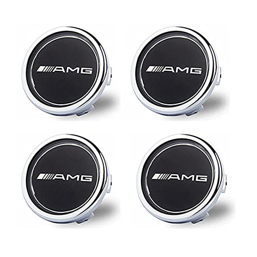 BAQIU 4 PCS 75MM LED Tapas de neumáticos Impermeables flotantes Luces para automóviles Tapas de levitación magnética compatibles con AMG