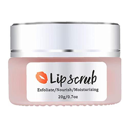 Scrub Exfoliante Labio seco Tratamiento de Labios Embalaje Libre Lip Care Bálsamo Crema Suave Natural Tratamiento de Labios Hombres Mujer de Belleza de Piezas
