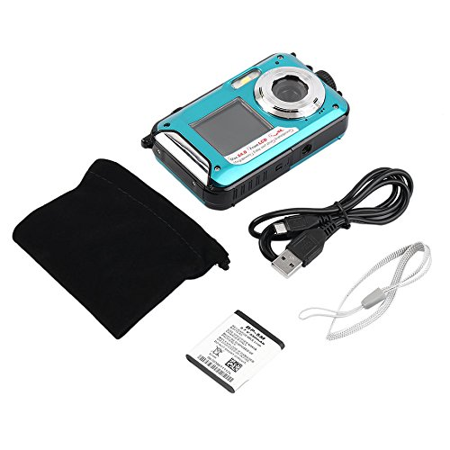 2.7inch TFT appareil photo numérique étanche 24MP MAX 1080P double écran 16x zoom numérique caméscope HD268