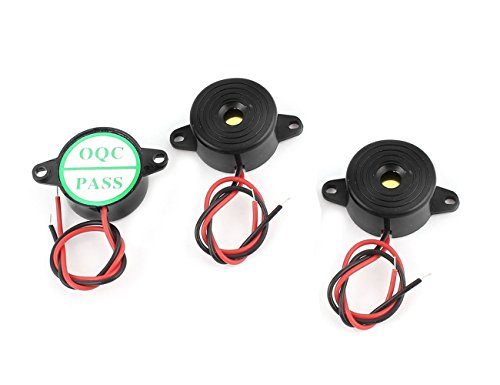DC3-24V Active Piezo Mini Buzzer Electronic-3Pcs Alarm Continuous Sound DIY Project, 23mm Dia