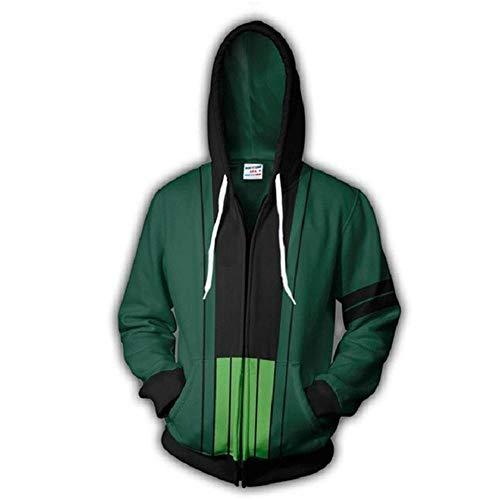Fleyel Unisexe Sudadera con Capucha, One Piece Zipper Sweatshirt Jackets 3D Imprimer Hoodies Hoodie Manga Larga Hoodie Casual Camisa de Entrenamiento Abrigo de Invierno Sudadera