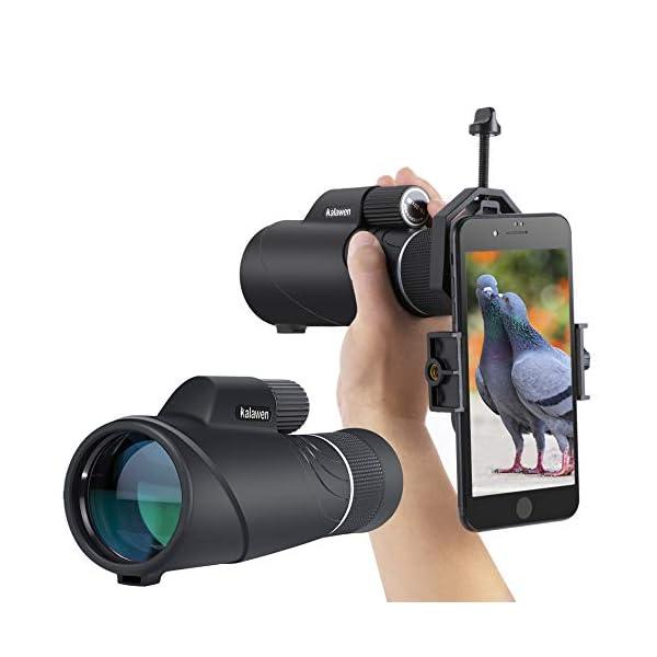 Kalwen Zoom Monocular, Zoom Spotting Scope and 10x42 High Power Binoculars