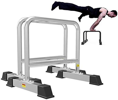 Heavy Duty Dip estación de inmersión soporte de tracción completa Hasta entrenamiento paralelo barra de bíceps tríceps Inicio ejercicio de la gimnasia Dip Bar W / estación de inmersión apretones de Al