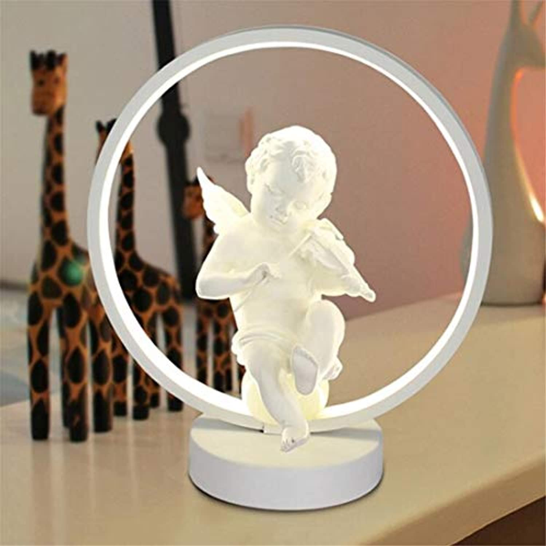 Led Wandleuchte Led Metall Tischlampe Kreative Persnlichkeit Runden Schreibtisch Licht Mit Klassische Harz Engel Schreibtischlampe